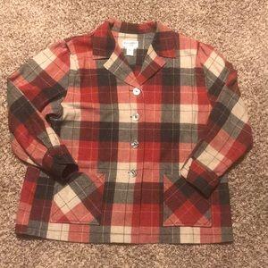 Pendleton flannel button up shirt/jacket
